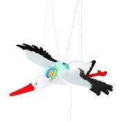 Goki Swing animal Stork Baby Toy, Blue