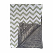 BayB Brand Blanket - Grey Chevron and Grey