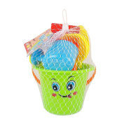 Smilingtree,New large beach bucket 9pcs/set of toys to play with sand dredging and beach toys children's educational tools