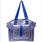Bellotte Designer Tote Nappy Bag, Blue Flora