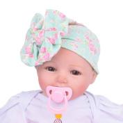 Alonea Baby Kids Girls Bowknot Hairband Turban Bowknot Headwrap Hairband
