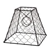 Lamp Shade Clip On Light Bulb Black Chicken Wire Shade 20cm x 20cm