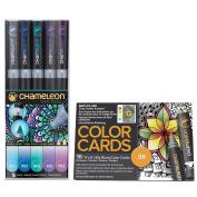 Chameleon Cool Tones Set of 5 Pens with Zen Colour Cards