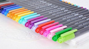 Coloured Fineliner pen Happlee 12colors Fine Point Ink Pens, Ink Width 0.4mm, Perfect for Illustration, Graphic Design, Writing, DIY Craft Projects, Technical Drawing