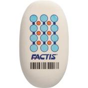 Factis Jumbo Oval Eraser 6/Pkg-White