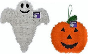 Halloween Character Shaped Tinsel Decor Pumpkin and ghost Set