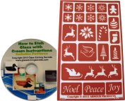 Reusable Christmas Glass Etching Stencils, Holiday Baubbles
