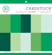 ColorBok Smooth Cardstock Paper Pad, Green Promenade, 30cm x 30cm