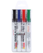 Camlin Pb White Board Marker - Pack Of 4 Assorted Colours