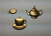 Brass Charms Set - Coffee - Set of 3