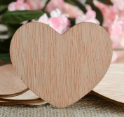 Wood Hearts Confetti 7.6cm - Rustic Wedding Decor