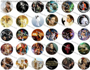 30 Precut Bottle Cap Images Star Wars Set 4