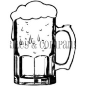 Riley & Company Cling Stamp 3.8cm x 5.1cm -Large Beer Mug