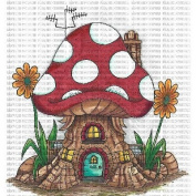 Riley & Company Mushroom Lane Cling Stamp 8.9cm x 11cm -Polkadot House