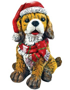 Alpine Mcc368 Dog With Santa Hat Christmas Decoration, Assorted