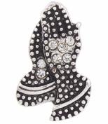 Snap button Crystal Praying Hands 18mm charm chunk