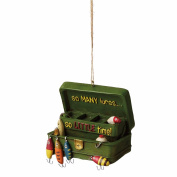 """So Many Lures, So Little Time"" Angler Tackle Box Ornament 112988"