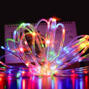 Christmas Solar String lights,12m 100 LED Rope Tube Starry String Garden Light for Outdoor, Patio, Gardens, Homes, Party,Holiday, Wedding decoration(Multicolor)