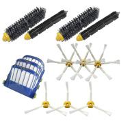 LOVE(TM)Replenishment Kit for iRobot Roomba 3 Aero Vac Filters & 3 3-Armed + 3 6-Armed Side Brushes & 2 Bristle Brushes & 2 Flexible Beater