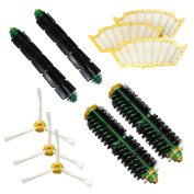 LOVE(TM)Pack Kit for iRobot Roomba 500 Series Vacuum Cleaning Robots all Green, Red, Black cleaning head