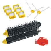 LOVE(TM)Replenishment Kit for iRobot Roomba 700 Series 760 770 780 790 Hepa Filters & Bristle Brush & Flexible Beater Brush & 3-Armed Side Brush & Cleaning Tool Pack