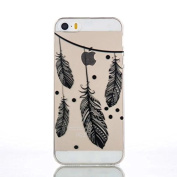Iphone 5/5S Case,A-slim(TM)Ultra-thin 3D Relief Painted Clear Side TPU Soft Phone Cases for Iphone 5/5S