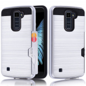 Samsung Galaxy LG K10 Case,A-slim(TM)[Credit Card Slots] [Slim Fit] [Shock Absorption] [Impact Resistant] Hybrid Dual Layer Armour Protective Case Cover for Samsung Galaxy LG K10