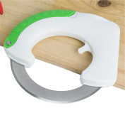 Bestwoohome Stainless Steel Circular Rolling Knives Kitchen Cutter for Vegetables Pizza