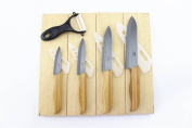WOLFGANG CUTLERY 9PC. BAMBOO BLACK PROFESSIONAL SERIES CERAMIC KNIFE SETS