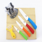 Wolfgang Cutlery 6 PC. Professional Series Ceramic knife Sets With Stand In Multicolor