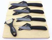 Wolfgang Cutlery 9PC. Professional Black Series Ceramic knife Sets