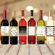 Wedding Wine Bottle Labels (Set of 6) for Bachelorette Party Gifts, Engagement Party Gifts, Bridal Shower Gifts, Wedding Bottle Labels, Wedding Bottle Stickers