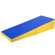 Giantex Folding Incline Mat Slope Cheese Gymnastics Gym Exercise Aerobics Tumbling Wedge