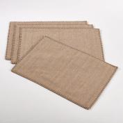 Fennco Styles Whip Stitched Design Placemat - 33cm x 48cm - 4-Piece