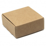 """1.96""""x1.96""""x0.78"""" (5*5*2cm) 50 Pieces Brown Mini Cardboard Kraft Paper Boxes Simple Gifts Business Card DIY Candy Thumb Thing Book Holder Boxes"""
