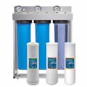 Express Water Whole House Water Filter System Carbon Sediment Phosphate 3 Stage Filtration 11cm x 50cm Inch