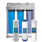 Express Water Whole House Water Filter System Carbon KDF Sediment 3 Stage Filtration 11cm x 50cm Inch