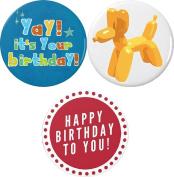 Set 3 Yay! it's Your birthday! Party Celebrate Animal Balloon 5.7cm Bottle Openers w/ Keyring