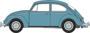Oxford Diecast 1:76 Scale VW Beetle In Gulf Blue