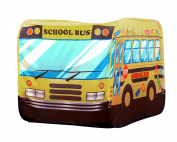 POCO DIVO School Bus Pop-up Play Tent Kids Pretend Vehicle