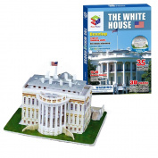 Toy Cubby Kids Adult 35 Puzzle Pieces Foam and Paper Assembling Puzzle 3D White House