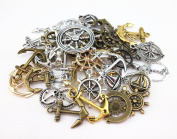 Yueton® 100 Gramme Assorted DIY Antique Anchor Charms Pendant Craft Making Accessory