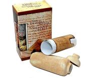 Dead Sea Qumran Scrolls Replica Clay Jar and Script by Bethlehem Gifts TM