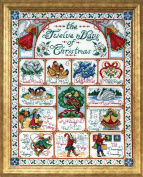 Design Works Crafts 12 Days of Christmas Counted Cross Stitch Kit, 36cm by 46cm