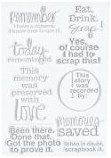 Technique Tuesday TT-SCRAP Clear Stamp, 10cm by 15cm , Scrapbook It