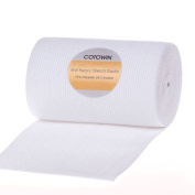 Cotowin 10cm Wide White Knit Heavy Stretch High Elasticity Elastic Band 3-Yard