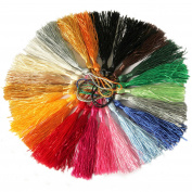 Bilipala 20 Counts Multicolors Soft Tassels for DIY Craft Jewellery Decoration