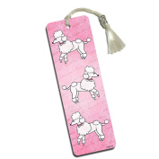 French Poodles Printed Bookmark with Tassel