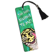 Leopard Gecko Licking Eye Printed Bookmark with Tassel