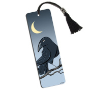 Raven in the Night Printed Bookmark with Tassel